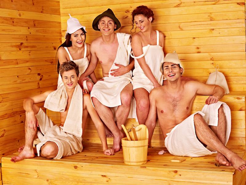 посещение бани компанией
